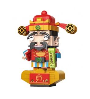 Decool 69001 Cute Head Blocks Wealth God CNY Chinese New Year Building Bricks 200+pcs