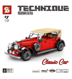 SY Sheng Yuan Technique 8612 Classic Car Vintage Retro Cabriolet Vehicle Building Block Bricks 1:14 1134pcs