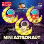 Lelebrother W2201 / W2202 / W2203 Astronaut Space Universe Moon Free Light Lighting Effect Building Block Bricks 迷你月亮太空人