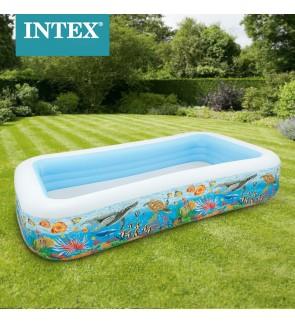 Intex 183x56cm Swim Center Family Small Sea Life Swimming Pool IT 58485NP