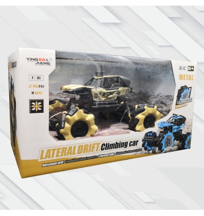 [Free USB Rechargeable Battery] Lateral Drift Climbing Vehicle 4WD 2.4GHz RC Remote Control Race Car Model LED Lighting Kereta Kontrol