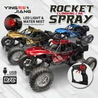 [Free USB Rechargeable Battery] Rocket Spray Climbing Vehicle 6WD RC Remote Control Race Car Model LED Lighting Kereta Kontrol