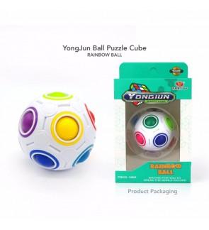 YongJun Brain Teaser Toys Rubic Magic Rubik Educational Intellect Rainbow Ball