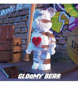 KB1001 Love White Bear 30cmBuilding Blocks BricksDecoration Blok Mainan