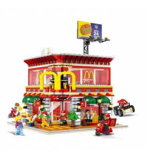 Sembo SD6901  Restaurant Building Block 1729pcs (with LED Lightings)