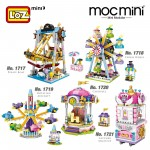 LOZ 1717/1718/1719/1720/1721 MINI Playground Nano Diamond Creative Brick Theme Park Building Block