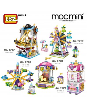 LOZ MINI Nano Diamond Creative Brick Playground Theme Park Building Block 1717/1718/1719/1720/1721