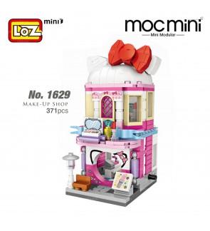 LOZ 1629 MINI Street Nano Diamond Make-Up Shop Kitty Building Block 371pcs