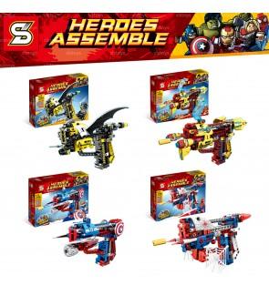 SY Sheng Yuan No.7018 Heroes Assemble Hero Toy Target Shooter Bricks