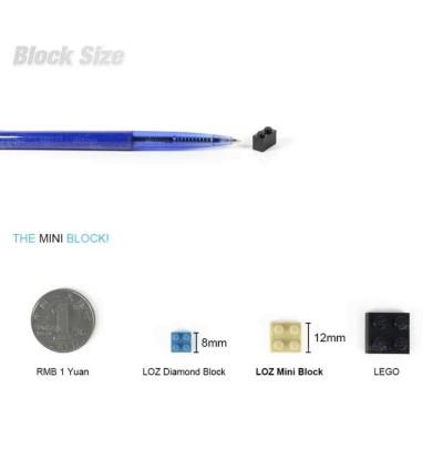 LOZ 1111 MINI Vehicle Nano Diamond Creative Brick Mini Cooper 492pcs