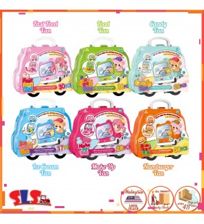 Suitcase Wheel Van Fast Food Candy Ice Cream Make-Up Hamburger Pretend Play