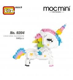 LOZ 9204 MINI Character Cartoon Nano Diamond Creative Brick Unicorn Rainbow 640 pcs