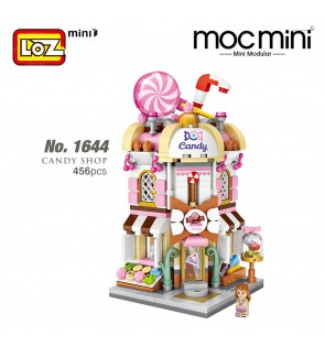 LOZ 1644 MINI Street Nano Diamond Creative Brick Candy Shop 456pcs