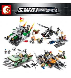 Sembo Block S.W.A.T 102315-102318 4-in-1 Set Police Vehicle Bricks