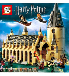 SY Sheng Yuan 1205 Harry Potter Hogwarts Castle Building Hall Attic Blocks