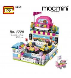 LOZ 1728 MINI Playground Nano Diamond Creative Brick Bumper Car Building Block 432pcs